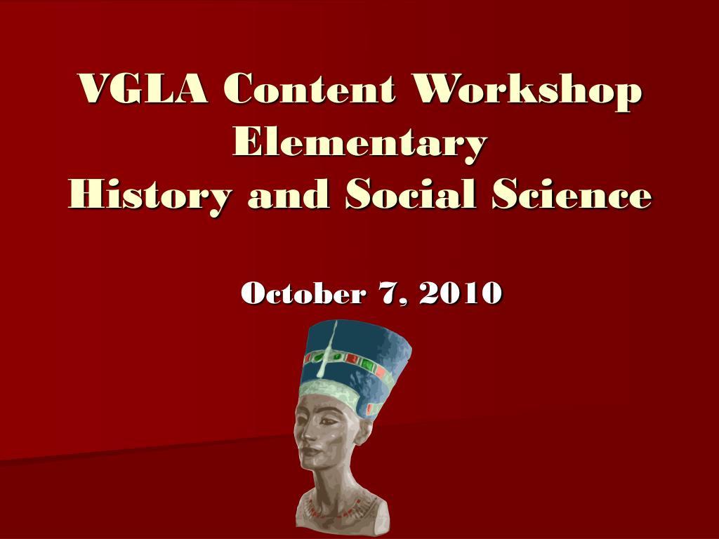 VGLA Content Workshop