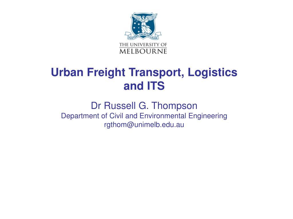 urban freight transport logistics and its
