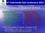 conclusions on regional outlook