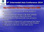 key australian service changes since 2008