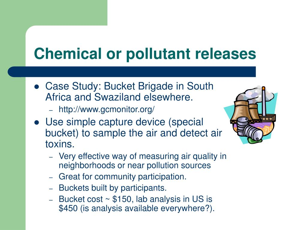 Chemical or pollutant releases
