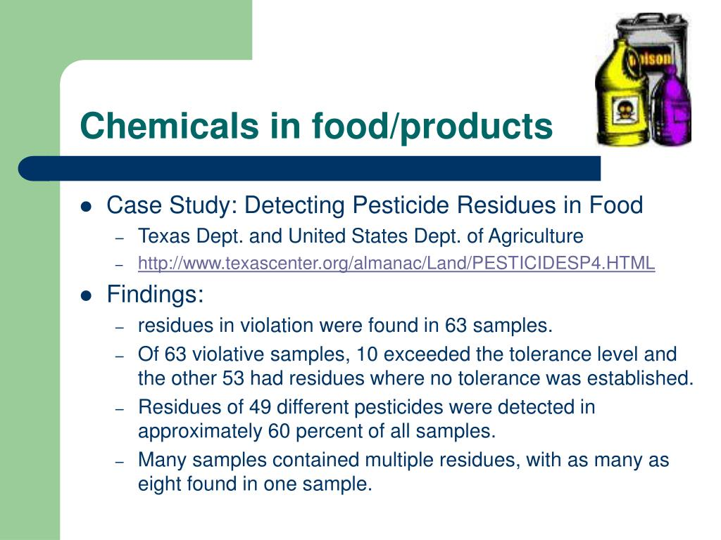 Chemicals in food/products