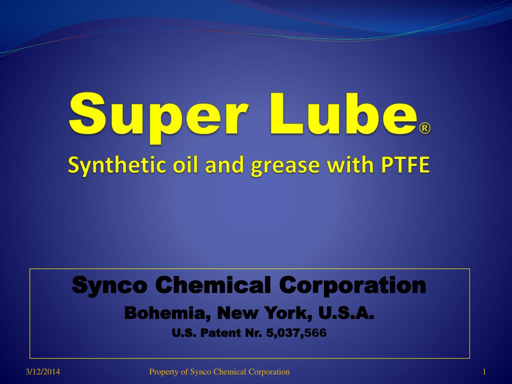 super lube synthetic oil and grease with ptfe l.