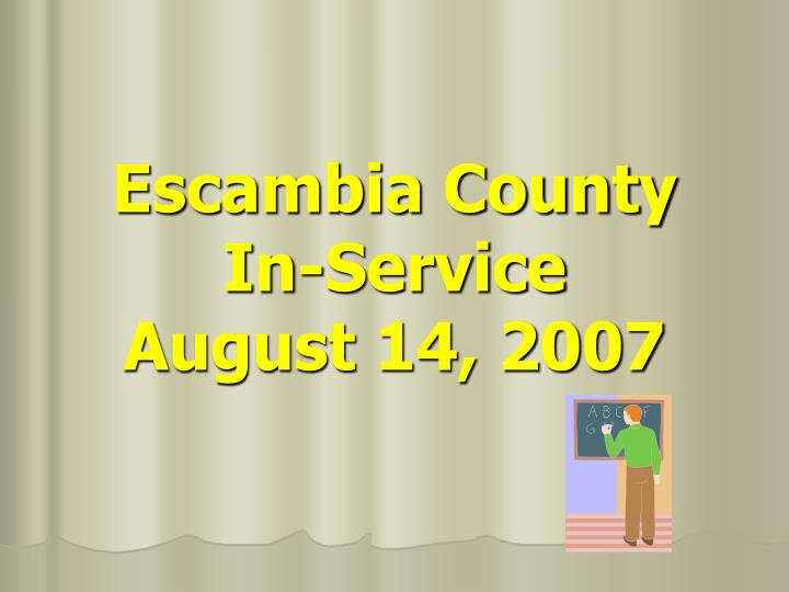 escambia county in service august 14 2007 n.
