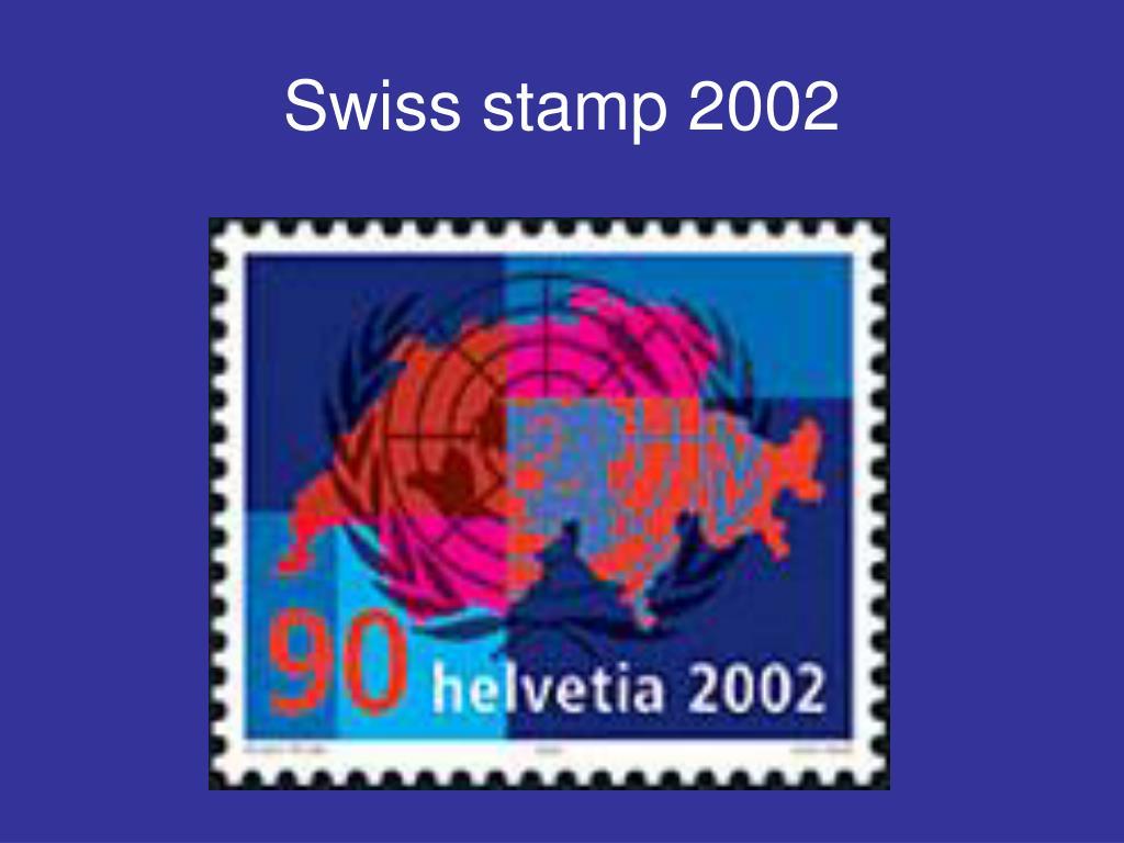 Swiss stamp 2002