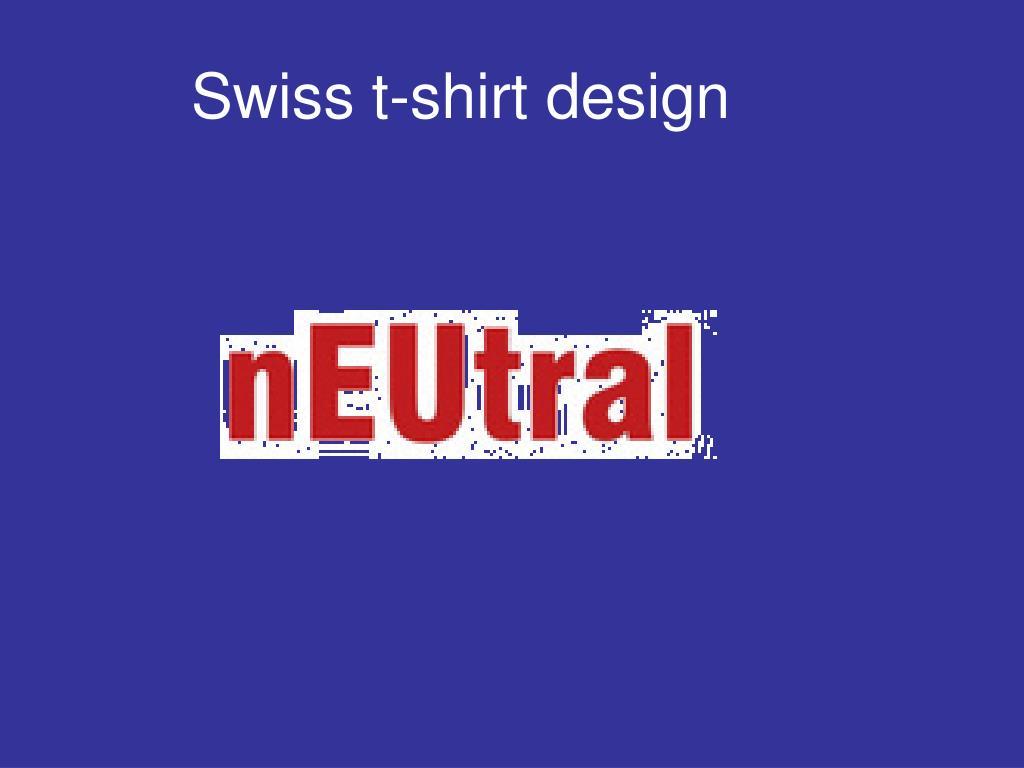 Swiss t-shirt design