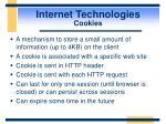 internet technologies cookies
