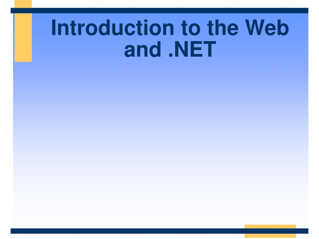 introduction to the web and net l.
