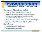 programming paradigms component based programming27