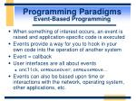 programming paradigms event based programming