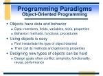 programming paradigms object oriented programming