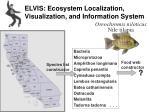 elvis ecosystem localization visualization and information system