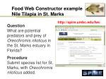 food web constructor example nile tilapia in st marks