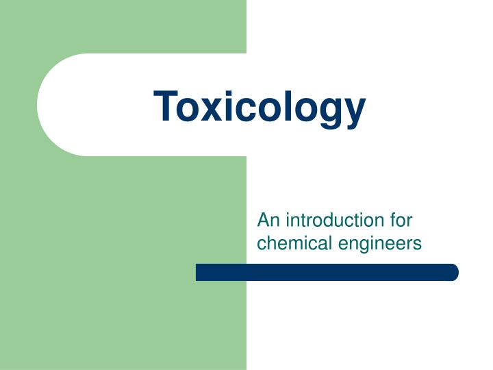 toxicology n.