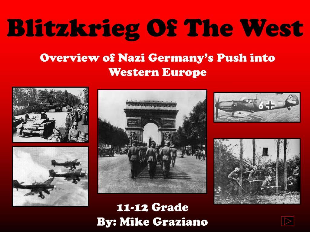 blitzkrieg of the west l.