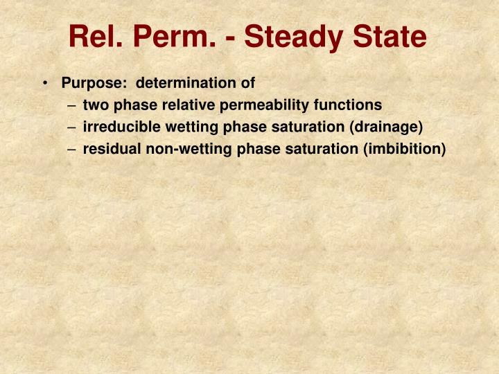 Ppt Laboratory Measurement Of Relative Permeability
