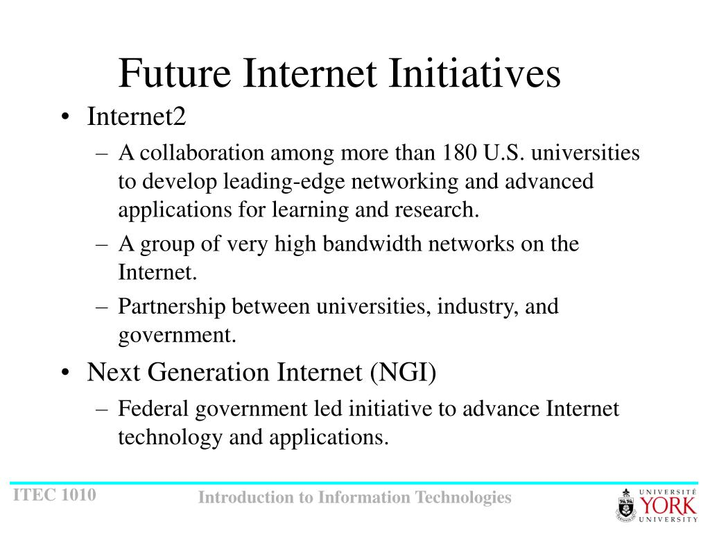 Future Internet Initiatives