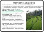 rolnictwo azjatyckie