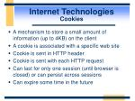 internet technologies cookies