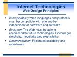 internet technologies web design principles