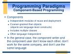 programming paradigms component based programming