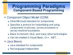 programming paradigms component based programming43
