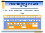 programming the web dhtml