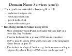 domain name services cont d