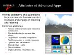 attributes of advanced apps