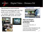 digital video distance ed