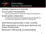 partnerships internet2 international