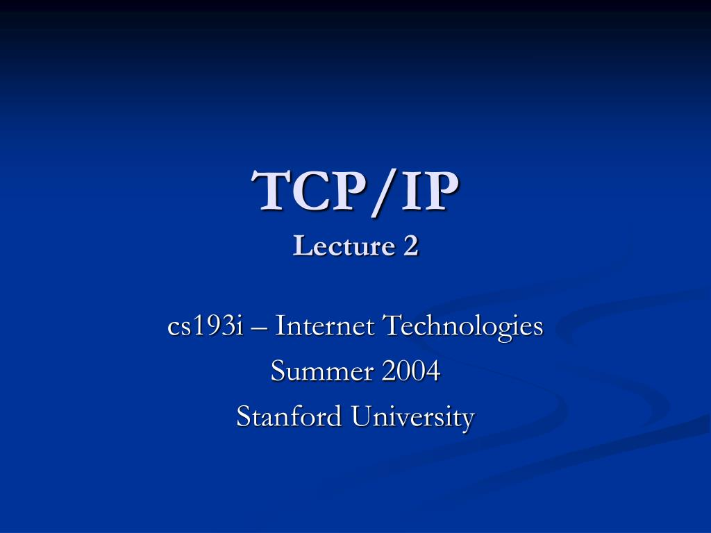 tcp ip lecture 2 l.