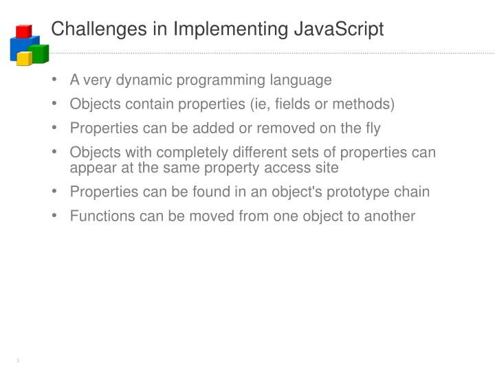 Challenges in implementing javascript