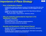 importance of place strategy
