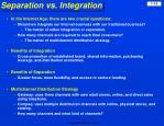 separation vs integration