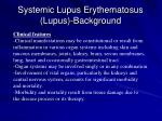 systemic lupus erythematosus lupus background17