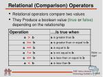 relational comparison operators