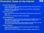 promotion types on the internet