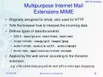 multipurpose internet mail extensions mime