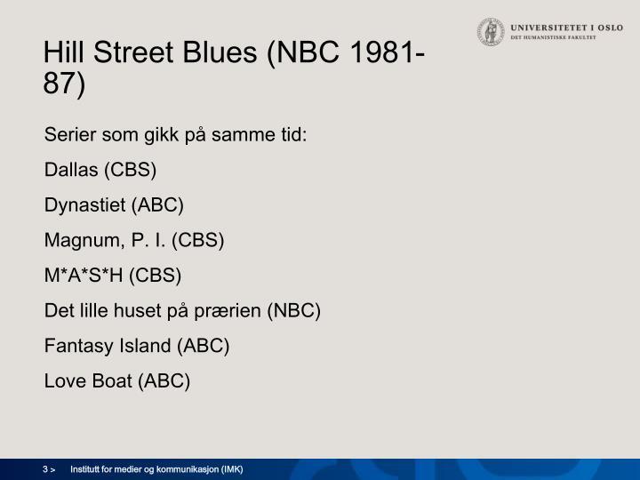 Hill street blues nbc 1981 87