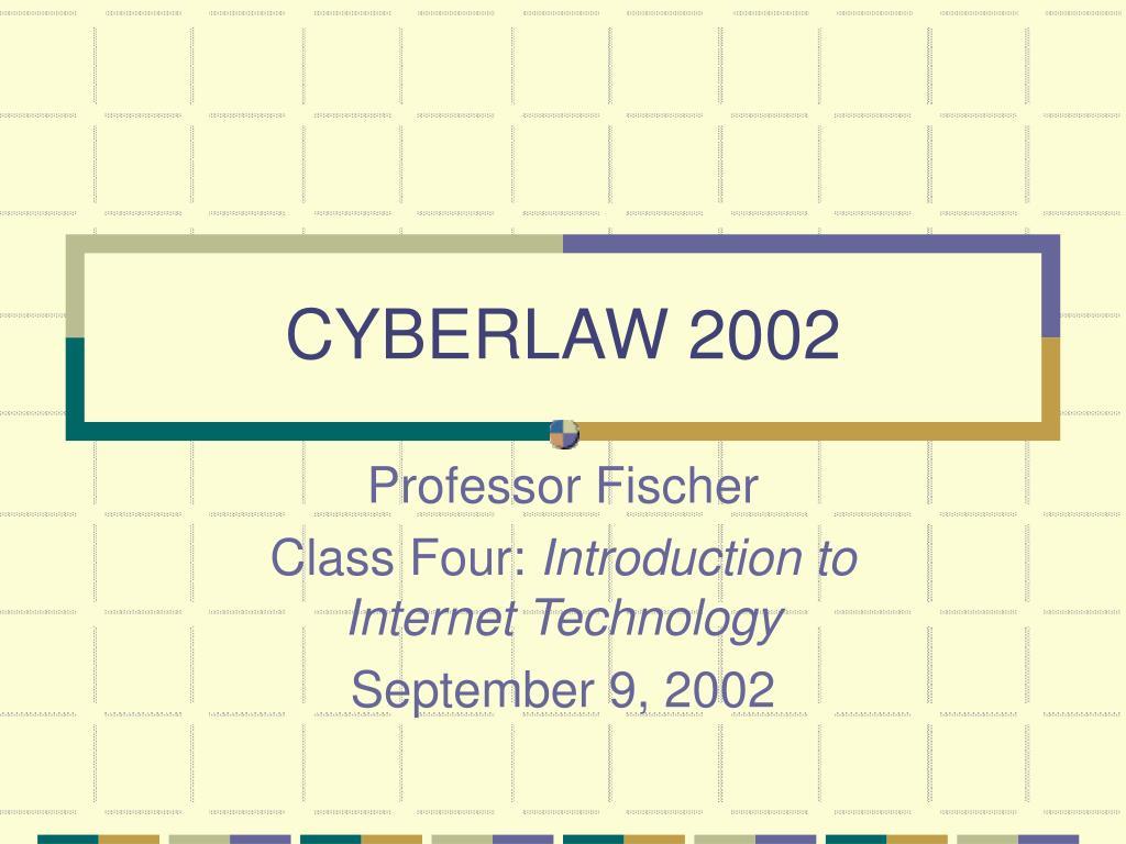 cyberlaw 2002 l.