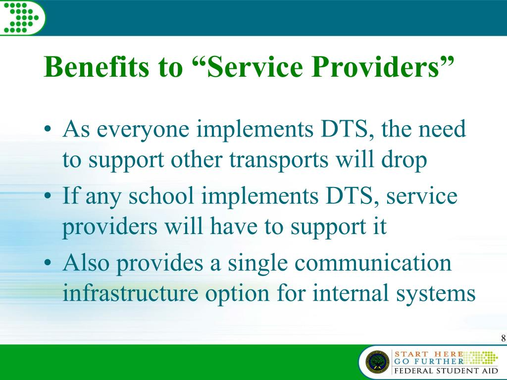 "Benefits to ""Service Providers"""