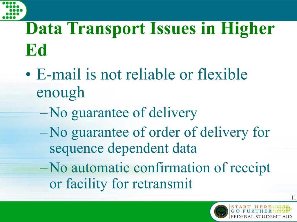 Data Transport Issues in Higher Ed