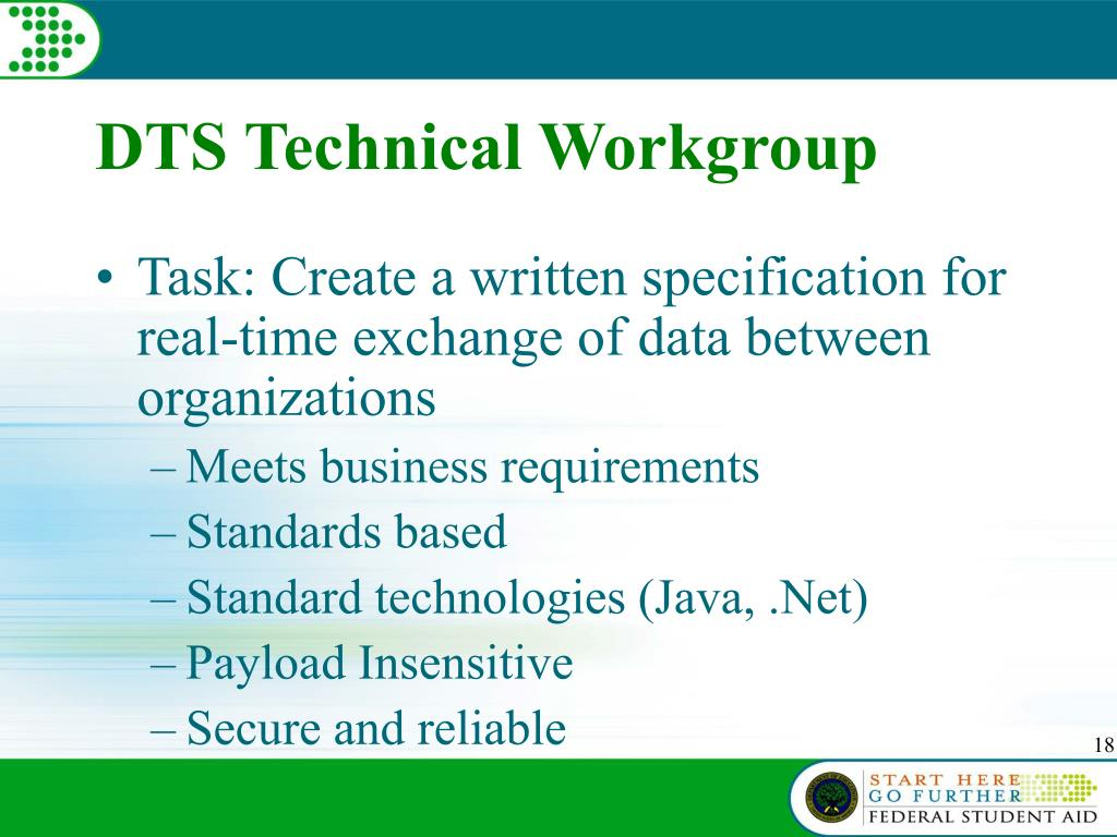 DTS Technical Workgroup