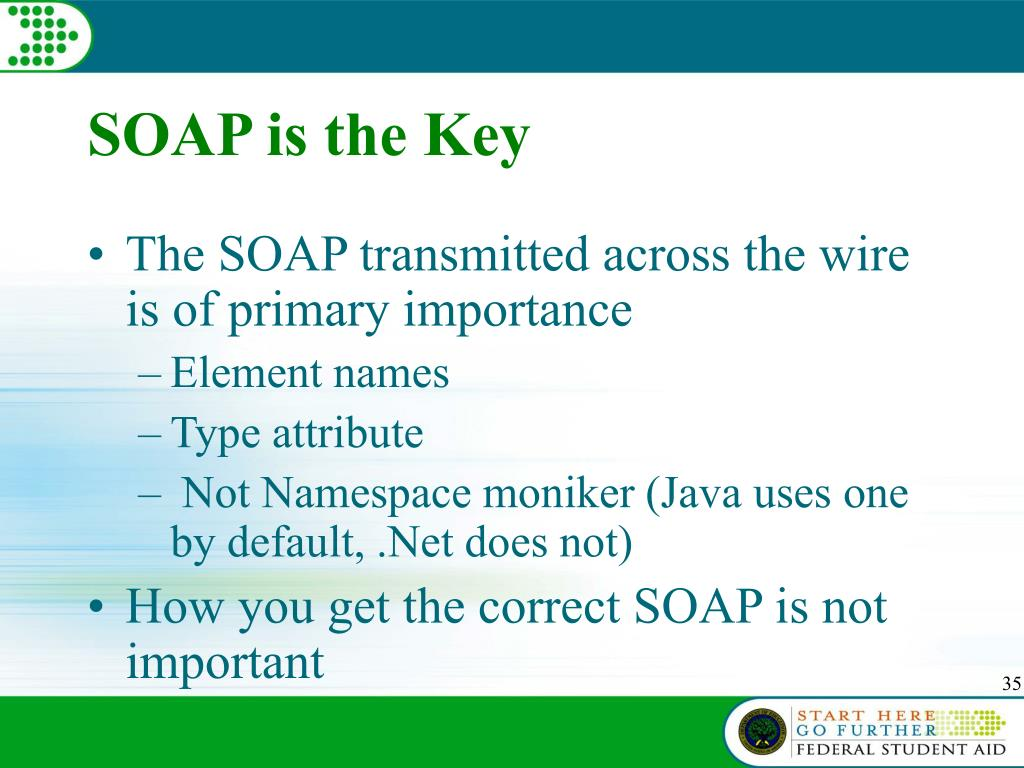 SOAP is the Key