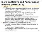 more on delays and performance metrics from ch 5
