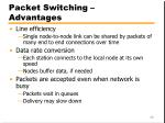 packet switching advantages