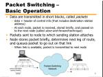 packet switching basic operation