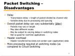 packet switching disadvantages