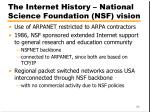 the internet history national science foundation nsf vision